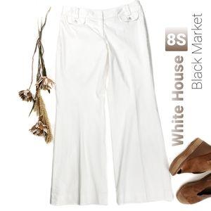 White House Black Market Wht Fully Lined Pants 8S